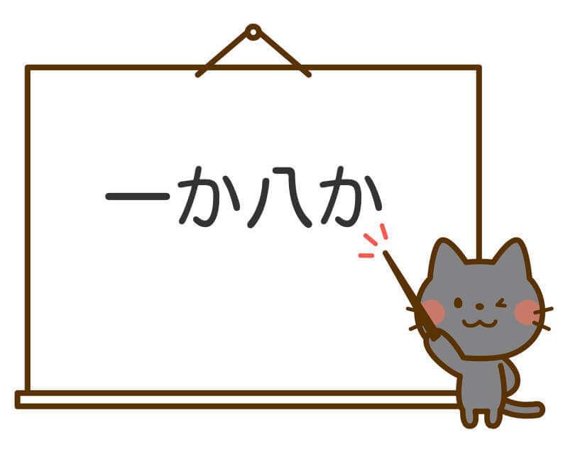 一か八かの意味とは?語源や漢字とその使い方や例文は?